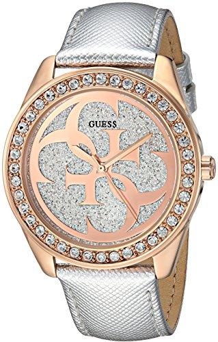 ゲス GUESS 腕時計 レディース U0627L9 GUESS Women's Stainless Steel Leather Casual Watch, Color: Silver-Tone (Model: U0627L9)ゲス GUESS 腕時計 レディース U0627L9