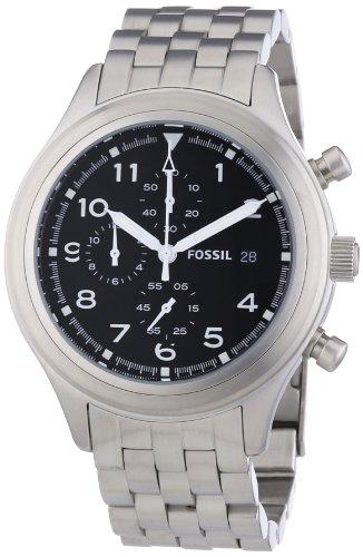 フォッシル 腕時計 メンズ JR1431 Fossil Compass Chronograph Black Dial Stainless Steel Mens Watch JR1431フォッシル 腕時計 メンズ JR1431