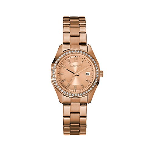 ブローバ 腕時計 レディース Caravelle Women's Quartz Watch with Stainless-Steel Strap, Rose Gold, 13.75 (Model: 44M114)ブローバ 腕時計 レディース