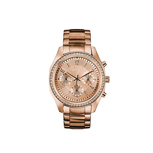 ブローバ 腕時計 レディース 【送料無料】Caravelle Designed by Bulova Women's Quartz Watch with Stainless-Steel Strap, Rose Gold, 18 (Model: 44L240)ブローバ 腕時計 レディース