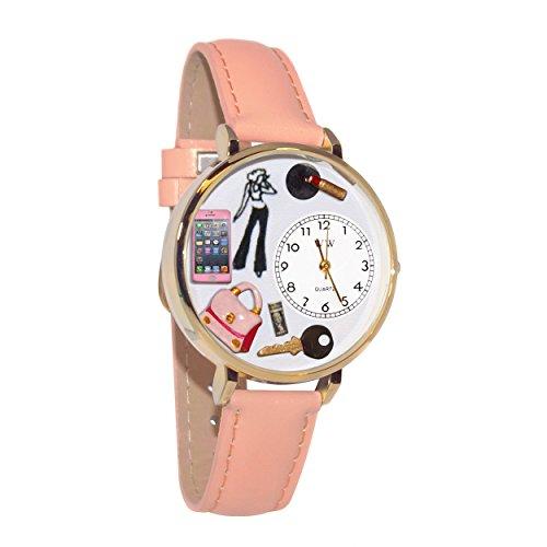 気まぐれな腕時計 かわいい プレゼント クリスマス ユニセックス 【送料無料】Teen Girl Pink Leather and Goldtone Watch #WG-G1610008気まぐれな腕時計 かわいい プレゼント クリスマス ユニセックス
