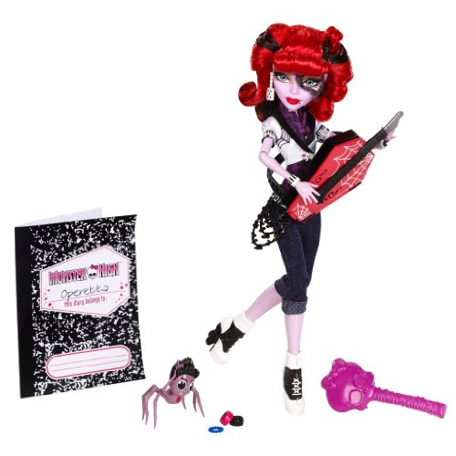 モンスターハイ 人形 ドール 【送料無料】4KIDS Toy / Game Freaky Monster High Operetta Doll (Daughter of Phantom of The Opera) with Coffin-Shaped Guitarモンスターハイ 人形 ドール