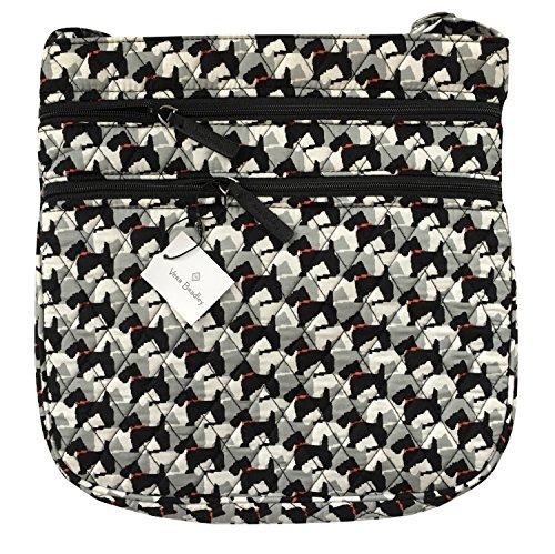 ヴェラブラッドリー ベラブラッドリー アメリカ フロリダ州マイアミ 日本未発売 15225-D67 Vera Bradley Triple Zip Hipster Cross-body Bag (Scottie Dogs with Black Interiorヴェラブラッドリー ベラブラッドリー アメリカ フロリダ州マイアミ 日本未発売 15225-D67