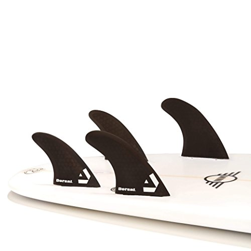サーフィン フィン マリンスポーツ VENTRAL-HS5-FC4-Black Dorsal Surfboard Fins Hexcore Quad Set (4) Honeycomb FCS Base Blackサーフィン フィン マリンスポーツ VENTRAL-HS5-FC4-Black