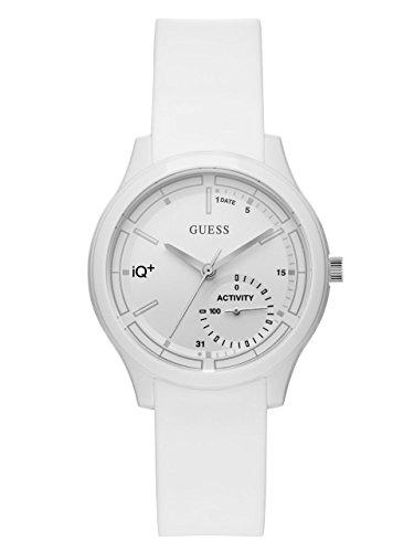 ゲス GUESS 腕時計 レディース C2003M1 GUESS Women's Stainless Steel Connect Fitness Tracker Silicone Watch, Color: White (Model: C2002L2)ゲス GUESS 腕時計 レディース C2003M1