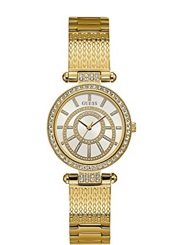 ゲス GUESS 腕時計 レディース W1008L2 Guess Muse White Dial Stainless Steel Ladies Watch W1008L2ゲス GUESS 腕時計 レディース W1008L2