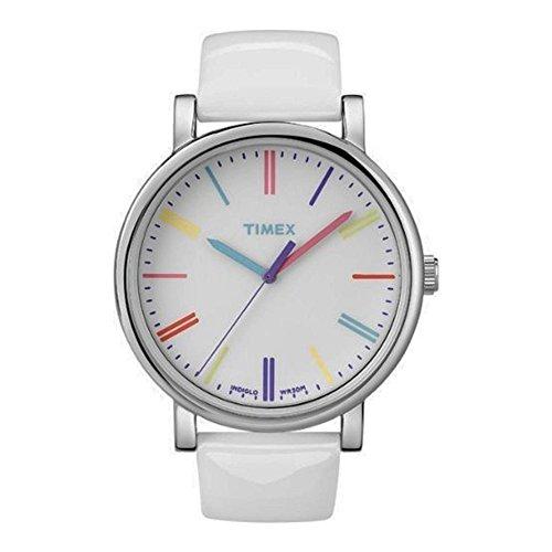 タイメックス 腕時計 レディース T2N791 【送料無料】Timex Heritage Easy Reader White Leather Strap Unisex Watch T2N791タイメックス 腕時計 レディース T2N791