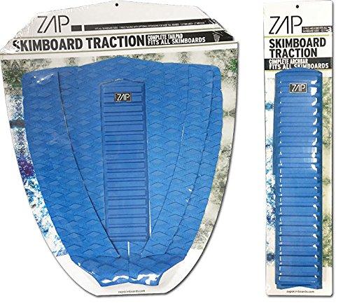 サーフィン スキムボード マリンスポーツ Zap Skimboard Deluxe Traction Pad Set/Skim Board Grip Combo/Tail Pad & Arch Bar (Blue)サーフィン スキムボード マリンスポーツ