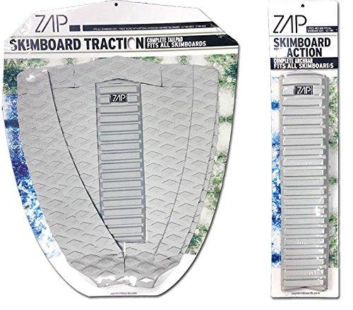 サーフィン スキムボード マリンスポーツ Zap Skimboard Deluxe Traction Pad Set/Skim Board Grip Combo/Tail Pad & Arch Bar (Black)サーフィン スキムボード マリンスポーツ