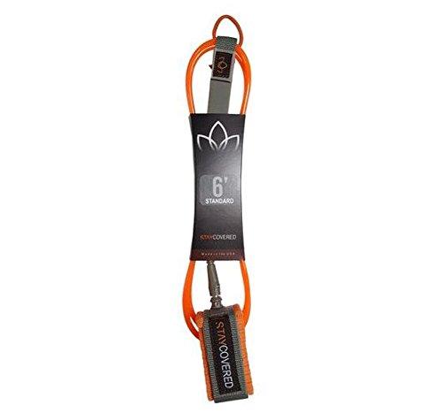 サーフィン リーシュコード マリンスポーツ Stay Covered Surf Leash Basic (Choose Color and Size) (Orange, 6')サーフィン リーシュコード マリンスポーツ