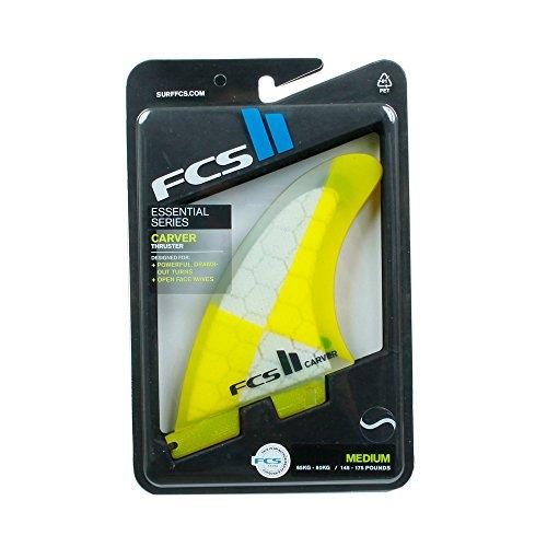 サーフィン フィン マリンスポーツ CARVER FCS II Carver Performance Core Thruster Fin - Medium - Yellow. (3 fin set)サーフィン フィン マリンスポーツ CARVER
