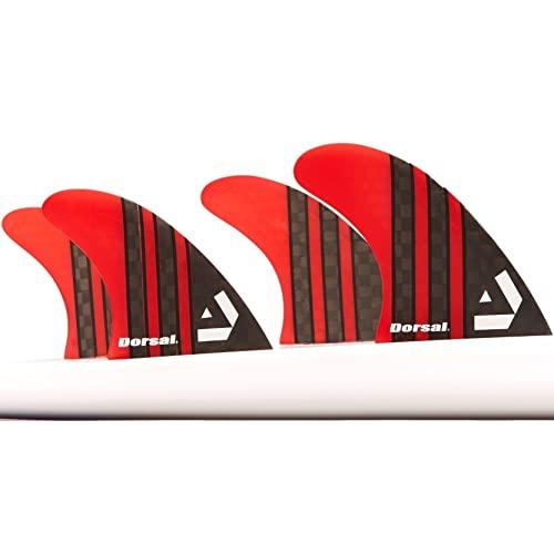 サーフィン フィン マリンスポーツ VENTRAL-CS5-FUTURE-4-RED 【送料無料】DORSAL Carbon Hexcore Quad Surfboard Fins (4) Honeycomb FUT Base Redサーフィン フィン マリンスポーツ VENTRAL-CS5-FUTURE-4-RED