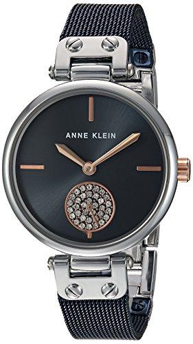 アンクライン 腕時計 レディース AK/3001BLRT 【送料無料】Anne Klein Women's Swarovski Crystal Accented Silver-Tone and Blue Mesh Bracelet Watchアンクライン 腕時計 レディース AK/3001BLRT