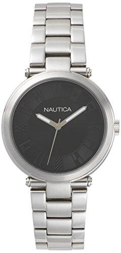 ノーティカ 腕時計 メンズ NAPFLS005 【送料無料】Nautica Ladies' NAPFLS005 Flagstaff Silver/Black Stainless Steel Bracelet Watchノーティカ 腕時計 メンズ NAPFLS005
