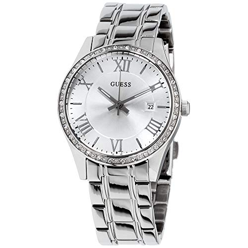 ゲス GUESS 腕時計 メンズ U0985L1 Guess Greenwich Silver Dial Stainless Steel Ladies Watch W0985L1ゲス GUESS 腕時計 メンズ U0985L1