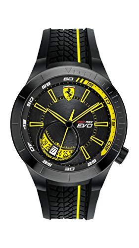 腕時計 フェラーリ メンズ 0830340 【送料無料】Ferrari 0830340 Men's RedRev EVO Black Dial Black Strap Quartz Watch腕時計 フェラーリ メンズ 0830340
