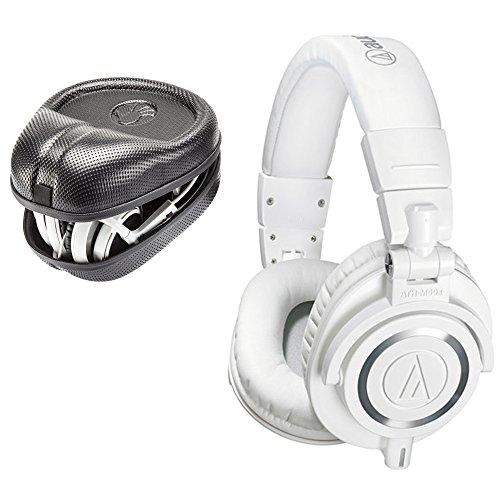 海外輸入ヘッドホン ヘッドフォン イヤホン 海外 輸入 Audio-Technica ATH-M50x Sound-Isolating Monitor Headphones (White) with SL-HP-07 Full Sized HardBody PRO Headphone Case海外輸入ヘッドホン ヘッドフォン イヤホン 海外 輸入