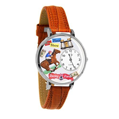 気まぐれな腕時計 かわいい プレゼント クリスマス ユニセックス 【送料無料】Horse Racing Tan Leather and Silvertone Watch #WG-U0810017気まぐれな腕時計 かわいい プレゼント クリスマス ユニセックス