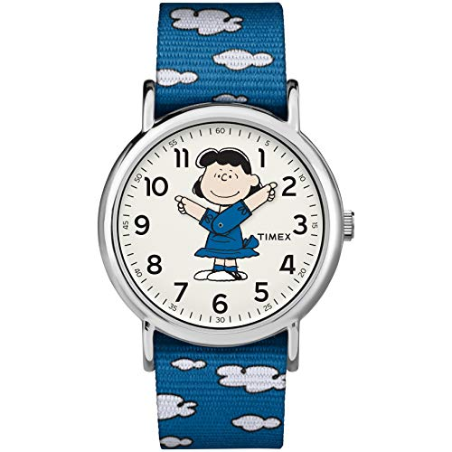 タイメックス 腕時計 レディース TW2R41300 【送料無料】Timex Unisex TW2R41300 Weekender 38mm Peanuts Lucy Nylon Slip-Thru Strap Watchタイメックス 腕時計 レディース TW2R41300