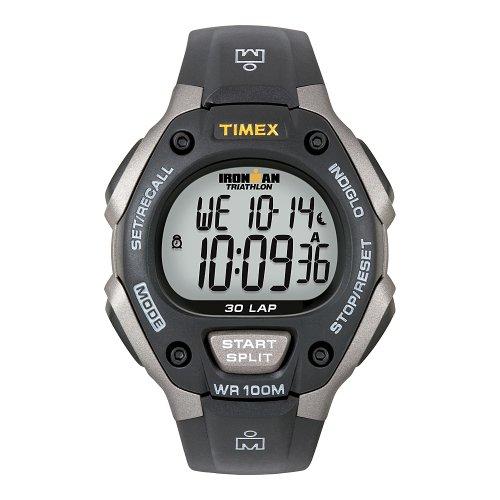 腕時計 タイメックス メンズ T5E901 【送料無料】Timex Ironman Triathlon 30 Lap Grey/Black腕時計 タイメックス メンズ T5E901