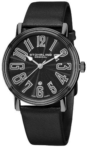 ストゥーリングオリジナル 腕時計 メンズ 301.335952 【送料無料】Stuhrling Original Men's 301.335952 Roulette Swiss Quartz Date Black Watchストゥーリングオリジナル 腕時計 メンズ 301.335952
