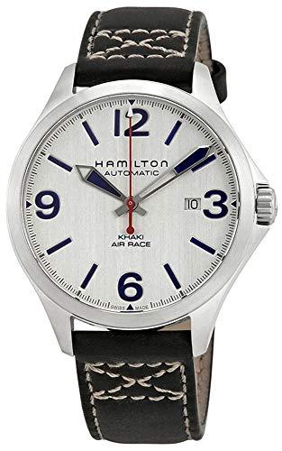 ハミルトン 腕時計 メンズ 【送料無料】Hamilton Khaki Aviation Air Race Silver Dial Men's Leather Watch H76525751ハミルトン 腕時計 メンズ