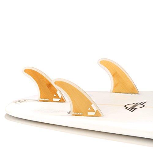 サーフィン フィン マリンスポーツ VENTRAL-BS5-FC3-Bamboo Dorsal Bamboo (Hexcore) Thruster Surfboard Surf Fins Set (3) Honeycomb FCS Baseサーフィン フィン マリンスポーツ VENTRAL-BS5-FC3-Bamboo