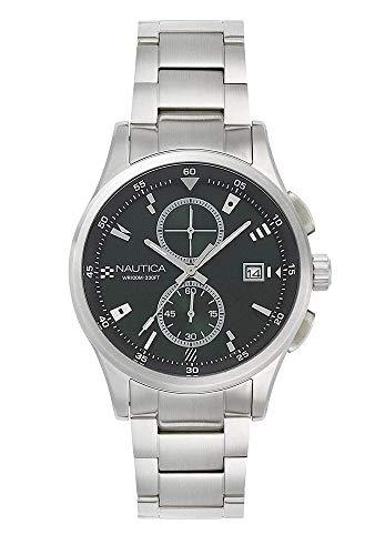 腕時計 ノーティカ メンズ NAPLSN002 【送料無料】Nautica Men's LISBONA Quartz Watch with Stainless-Steel Strap, Black, 22 (Model: NAPLSN002)腕時計 ノーティカ メンズ NAPLSN002