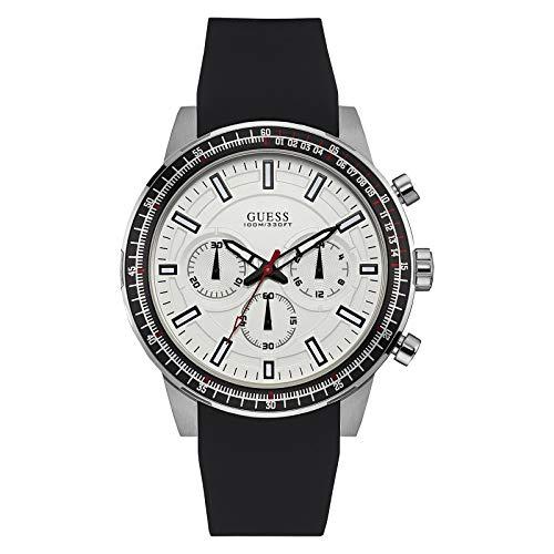 ゲス GUESS 腕時計 メンズ W0802G1 【送料無料】Guess Fuel White Dial Silicone Strap Men's Watch W0802G1ゲス GUESS 腕時計 メンズ W0802G1
