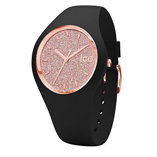 アイスウォッチ 腕時計 レディース かわいい Ice Glitter Ice-Watch - ICE Glitter Black Rose-Gold - Women's Wristwatch with Silicon Strap - 001346 (Small)アイスウォッチ 腕時計 レディース かわいい Ice Glitter