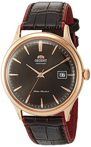 オリエント 腕時計 メンズ FAC08001T0 Orient Men's Bambino Version 4 Stainless Steel Japanese-Automatic Watch with Leather Calfskin Strap, Brown, 22 (Model: FAC08001T0)オリエント 腕時計 メンズ FAC08001T0