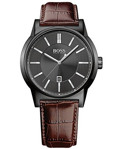 ヒューゴボス 高級腕時計 メンズ 1513071 Hugo Boss Men's Architecture 1513071 Brown Leather Analog Quartz Watchヒューゴボス 高級腕時計 メンズ 1513071