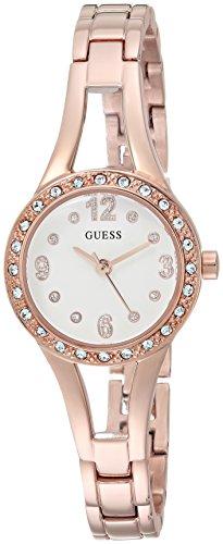 ゲス GUESS 腕時計 レディース U1034L4 【送料無料】GUESS Women's Stainless Steel Petite Crystal Watch, Color: Rose Gold-Tone (Model: U1034L4)ゲス GUESS 腕時計 レディース U1034L4