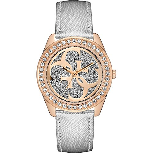 ゲス GUESS 腕時計 レディース W0627L9 Guess G Twist Silver Dial Leather Strap Ladies Watch W0627L9ゲス GUESS 腕時計 レディース W0627L9