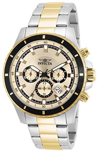 インヴィクタ インビクタ プロダイバー 腕時計 メンズ 12456 【送料無料】Invicta Men's 12456 Pro Diver Chronograph Gold Tone Dial Two Tone Stainless Steel Watchインヴィクタ インビクタ プロダイバー 腕時計 メンズ 12456