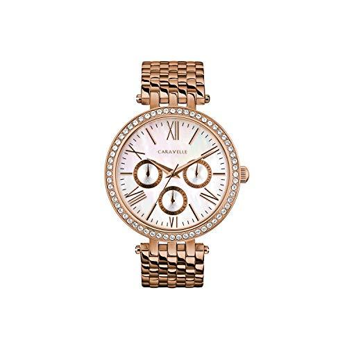 ブローバ 腕時計 レディース Caravelle Women's Quartz Watch with Stainless-Steel Strap, Rose Gold, 17.75 (Model: 44N111)ブローバ 腕時計 レディース