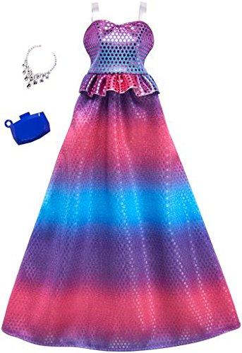 バービー バービー人形 着せ替え 衣装 ドレス FKT06 Barbie Fashions Complete Look ピンク 紫の & 青 Ombre Gown Setバービー バービー人形 着せ替え 衣装 ドレス FKT06