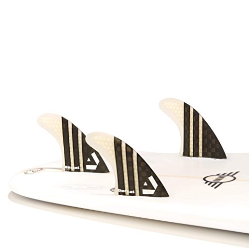 サーフィン フィン マリンスポーツ VENTRAL-CS5-FC3-Clear Dorsal Carbon Hexcore Thruster Surfboard Fins (3) Honeycomb FCS Base Clearサーフィン フィン マリンスポーツ VENTRAL-CS5-FC3-Clear