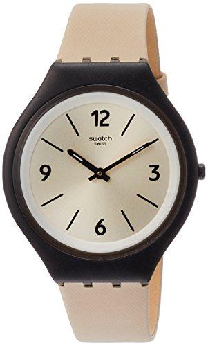 スウォッチ 腕時計 メンズ SVUB101 Swatch Women's Analogue Quartz Watch with Leather Strap SVUB101スウォッチ 腕時計 メンズ SVUB101