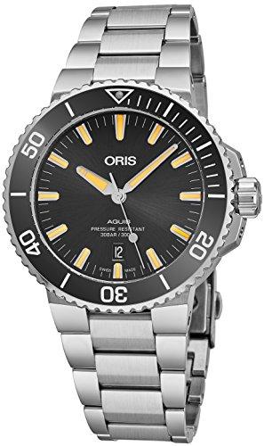 """オリス 腕時計 メンズ 【送料無料】Oris Aquis Black Dial Stainless Steel Men""""s Watch 73377304159MBオリス 腕時計 メンズ"""