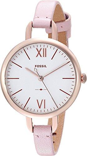フォッシル 腕時計 レディース ES4360 Fossil Women's Annette Stainless Steel Quartz Watch with Leather Calfskin Strap, Pink, 7 (Model: ES4360)フォッシル 腕時計 レディース ES4360