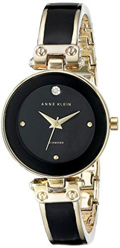 アンクライン 腕時計 レディース AK/1980BNGB Anne Klein Women's AK/1980BNGB Diamond-Accented Gold-Tone and Brown Bangle Watchアンクライン 腕時計 レディース AK/1980BNGB