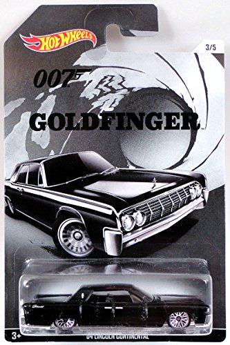 ホットウィール マテル ミニカー ホットウイール 【送料無料】Hot Wheels, 2015 James Bond 007, Goldfinger '64 Lincoln Continental Black 3/5ホットウィール マテル ミニカー ホットウイール