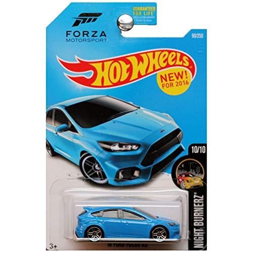 ホットウィール マテル ミニカー ホットウイール 【送料無料】Hot Wheels 2016 Night Burnerz Forza Motorsport '16 Ford Focus RS 90/250, Blueホットウィール マテル ミニカー ホットウイール