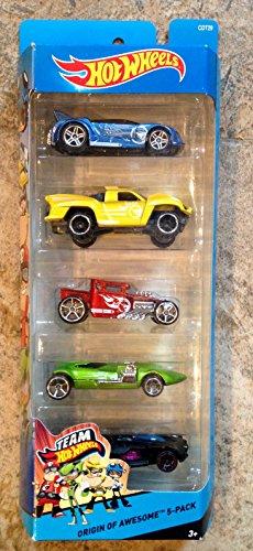 ホットウィール マテル ミニカー ホットウイール 【送料無料】Hot Wheels Origin of Awesome 5-packホットウィール マテル ミニカー ホットウイール