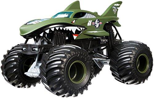 ホットウィール マテル ミニカー ホットウイール DWN98 【送料無料】Hot Wheels Monster Jam Shark Shock Die-Cast Vehicle 1:24 Scaleホットウィール マテル ミニカー ホットウイール DWN98