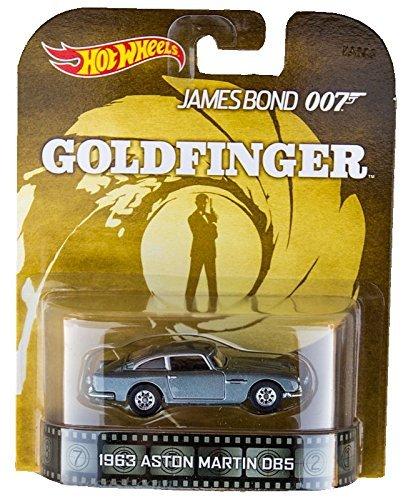 無料ラッピングでプレゼントや贈り物にも 逆輸入並行輸入送料込 ホットウィール マテル ミニカー ホットウイール 送料無料 Hot Wheels 1963 Aston Martin DB5 安全 Bond 2015 007 Vehicleホットウィール 64 James