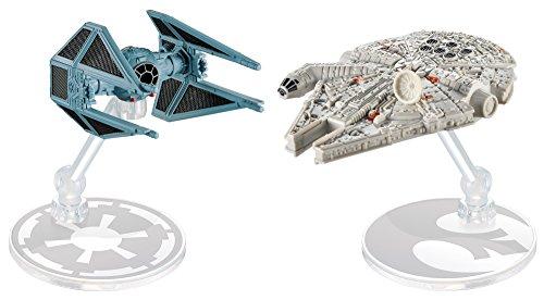 ホットウィール マテル ミニカー ホットウイール DML96 【送料無料】Hot Wheels Star Wars Starship Millennium Falcon vs Tie Interceptor, Pack of 2ホットウィール マテル ミニカー ホットウイール DML96