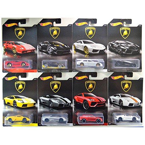 ホットウィール マテル ミニカー ホットウイール 【送料無料】Hot Wheels 2017 Lamborghini Bundle of 8 Die-Cast Vehicles 1:64 Scaleホットウィール マテル ミニカー ホットウイール