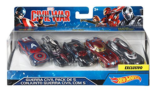 ホットウィール マテル ミニカー ホットウイール DJT61 【送料無料】Hot Wheels Marvel Captain America Civil War Character Car (5 Pack)ホットウィール マテル ミニカー ホットウイール DJT61